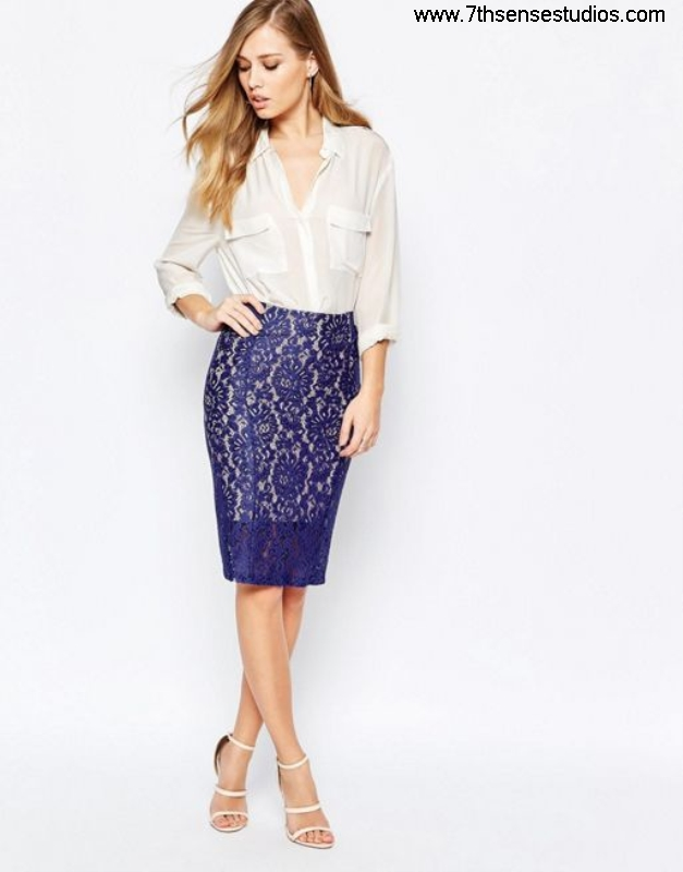 Sisley bodycon lace skirt in blue womensisley varieties Procurement shirts t Londonwide online DKQUWYZ149